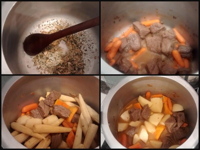 Carne com cenoura e mini milho1